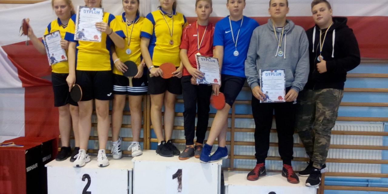 Mistrzostwa Powiatu wTenisie Stołowy chłopców idziewcząt