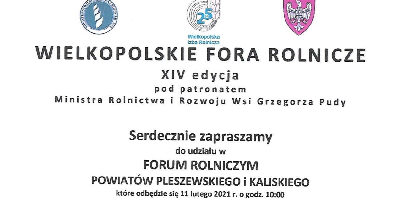 Wielkopolskie Fora Rolnicze XIV edycja