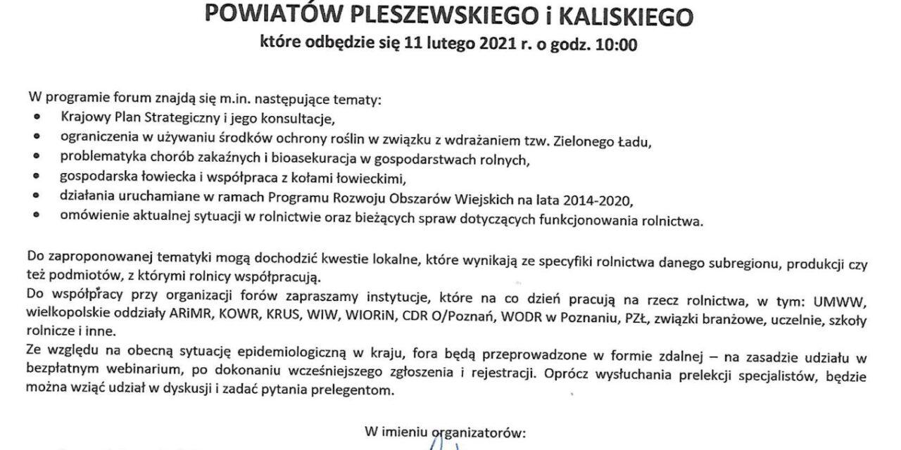Wielkopolskie fora rolnicze