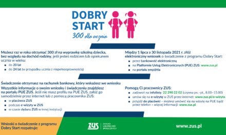 Dobry Start 300 dla ucznia 2021