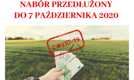 Przedłużony termin naboru wniosków dla rolników poszkodowanych przezCOVID-19